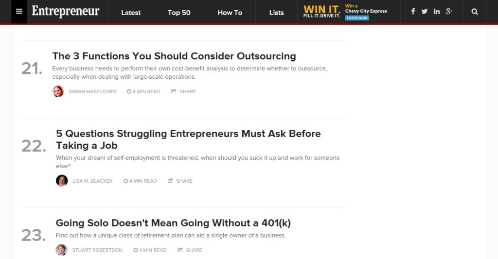 Popular   Popular articles and videos on Entrepreneur - LMB #22